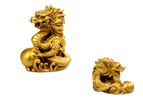 Statue Chinoise <br> du Zodiaque Dragon Moyenne