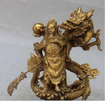 Statue Chinoise <br> Guerrier Dragon