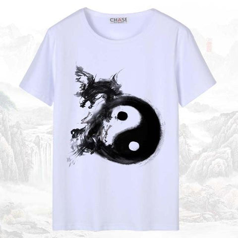 T-shirt Chinois <br> Dragon Yin Yang S