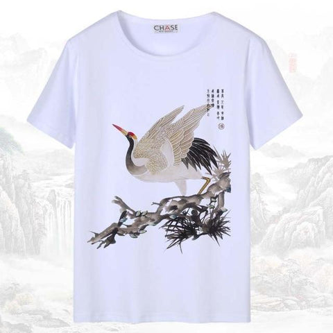 T-shirt Chinois <br> Grue 4XL