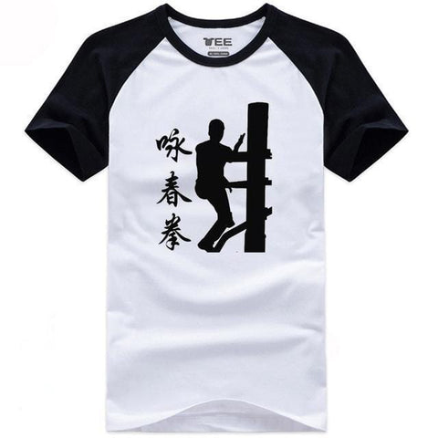 T-shirt Chinois <br> Kung Fu Manche Noire / S