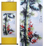 Tableau Chinois <br> Bambou 100cmx30cm / Fond Jaune