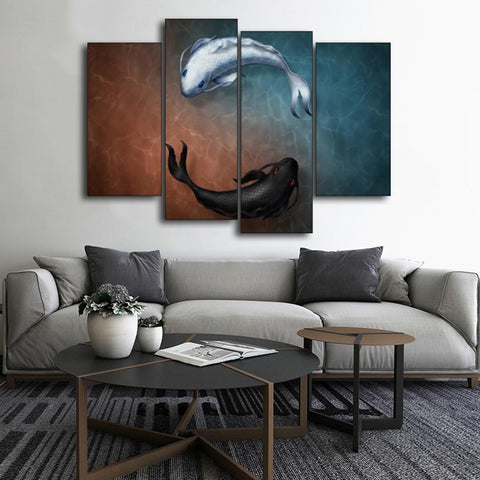 Tableau Chinois <br> Poissons Yin Yang L