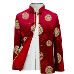 Veste Chinoise Homme <br> Rouge M