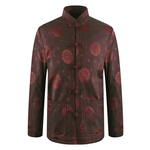 Veste Chinoise Homme <br> Traditionnelle Marron / 3XL