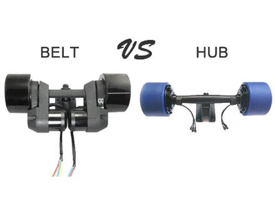 Best Comparison Between Belt and Hub Driven Motor Skateboard