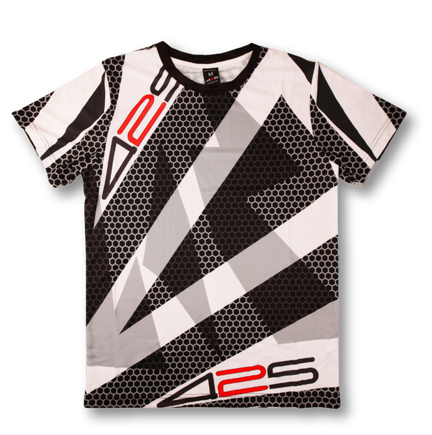 BLACK & WHITE RASTA JERSEY