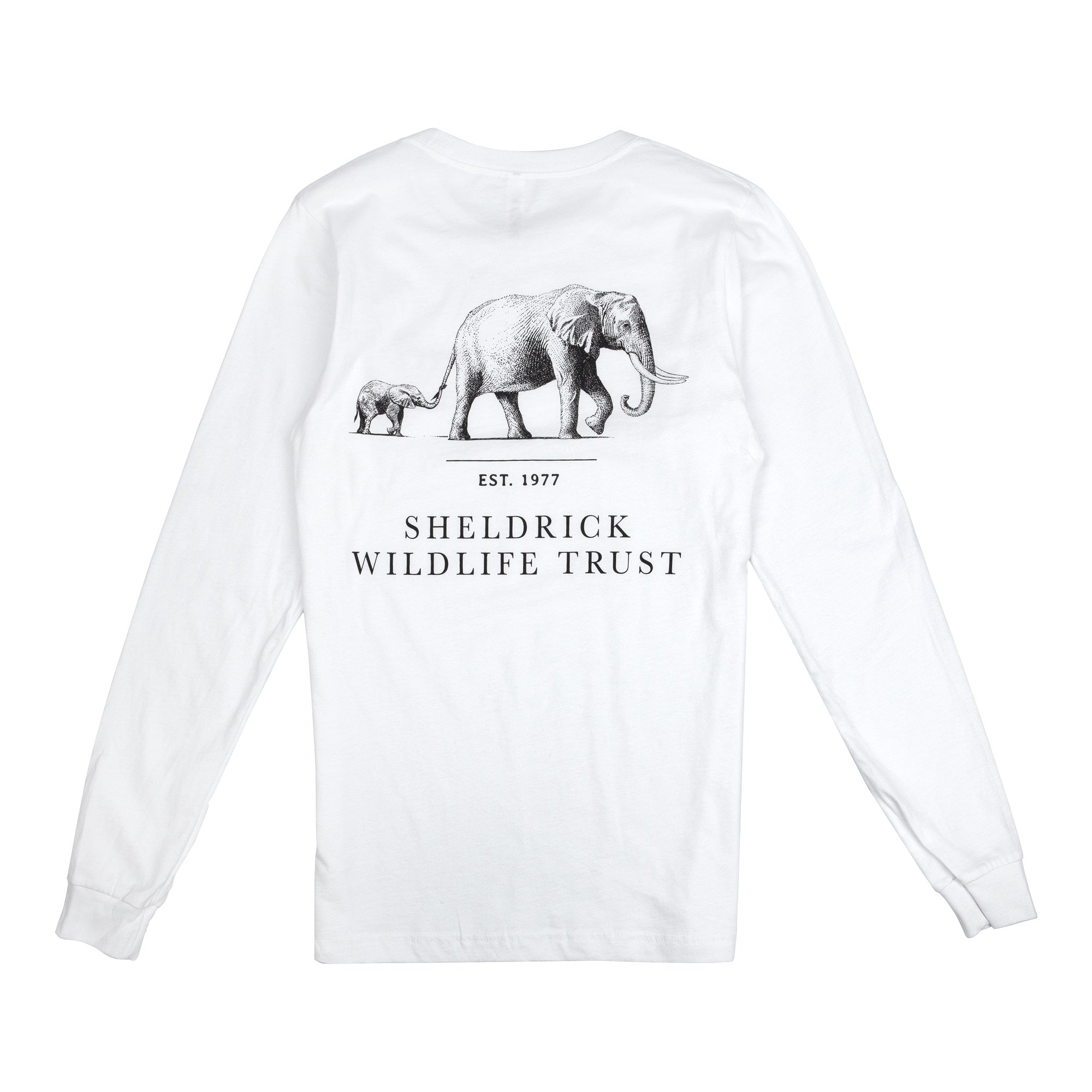 SWT Unisex White Long-Sleeve Shirt