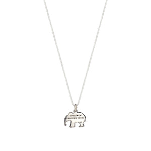 Sterling Silver Elephant Charm Necklace