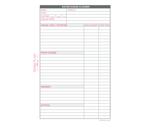 A5 Entertaining Planner Pad - Pack of 2