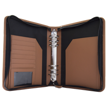 Load image into Gallery viewer, Marlow Tan A5 Zipped Binder