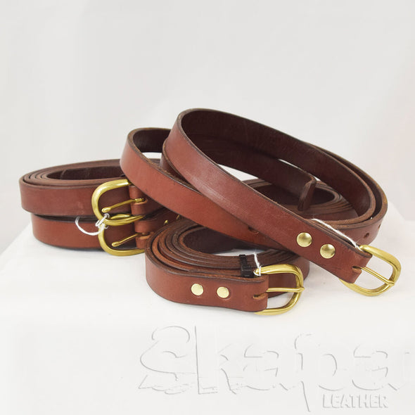 "Limited Edition- Mahogany 1"" wide Belt with Brass Hardware"