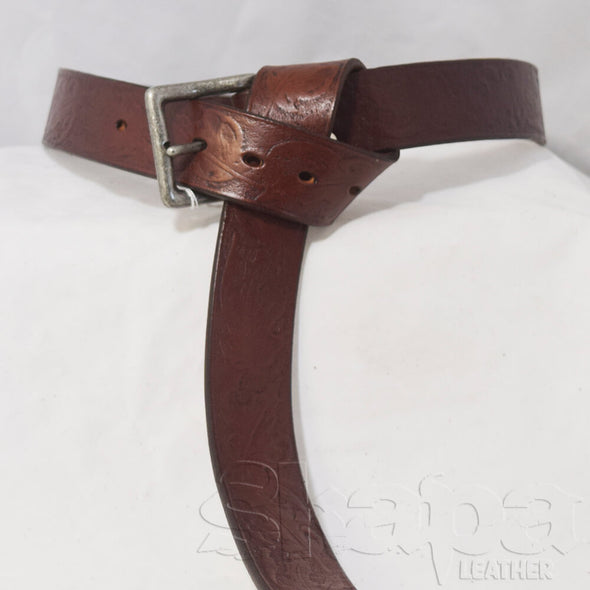 The Huntsman's Maple Leaf Buckled Belt