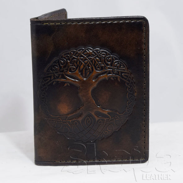 Navigator's Embossed Leather Passport Wallet