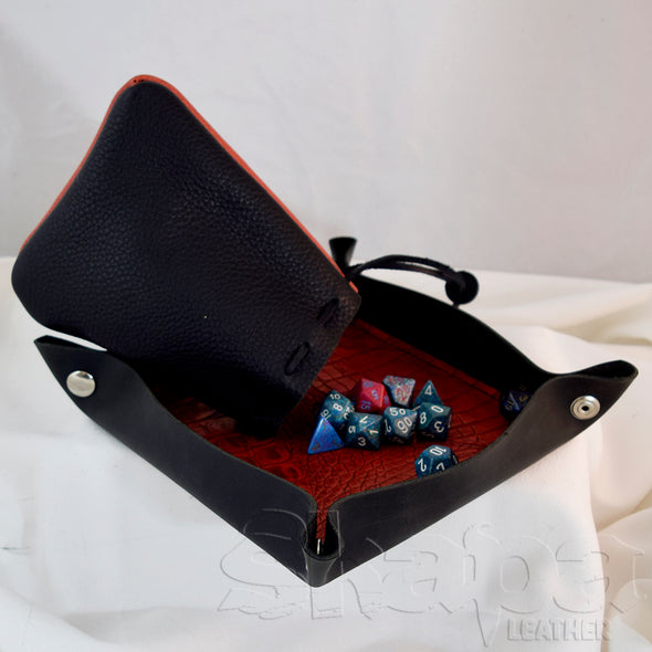 PRE-ORDER COMBO!! Deluxe Dice Tray (plain)/Dice Bag