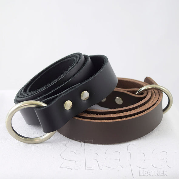 "1"" Wide Kids Basic Ring Belt in Black or Brown"