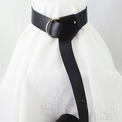 "2"" Wide Basic Ring Belt in Black or Brown"