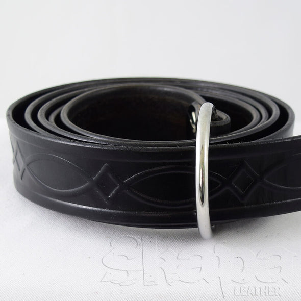 "1.5"" Kent Celtic Embossed Ring Belt"