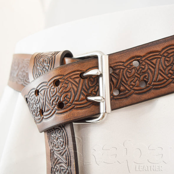 "2"" Wide Celtic Buckle Wrap Belt"