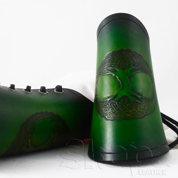 Ranger's Tree of Life Leather Bracers