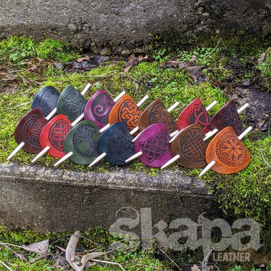 Leather Hair Barrette (Bright Colors)