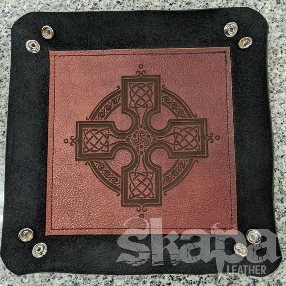Engraved Leather Dice/Catch-All/Valet Tray