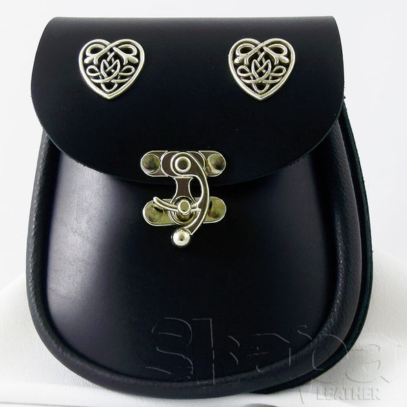 Countess's Celtic Heart Leather Pouch