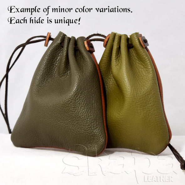 Leather Drawstring Coin Pouch – 14+ Colors