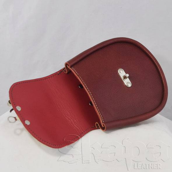 Red Lined Swing Clasp Pouch