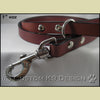 "Black Leather 1"" Dog Leash - SPECIAL BUY"