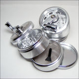 "SharpStone Clear Top 4 Piece Grinder 2.5"" w Crank (taxes extra) - Vaporizers.ca"