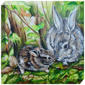 Woodland Bunnies Acrylic Blocks