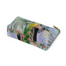 Load image into Gallery viewer, Angels & Roses Cosmetic Bag with T-bottom