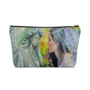 Angels & Roses Cosmetic Bag with T-bottom