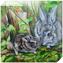 Load image into Gallery viewer, Woodland Bunnies Acrylic Blocks