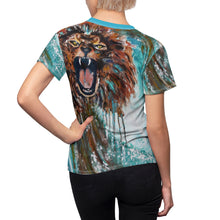Load image into Gallery viewer, Lion in The Wave Women's Tee