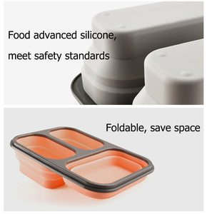 Collapsible Silicone Lunch box Set of 3