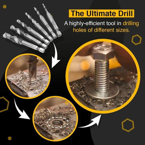 6 PCS THREAD TAP DRILL BITS SET