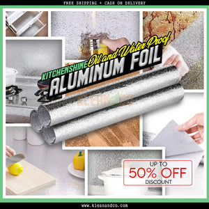 Kitchenshine Oil and Waterproof Aluminum Foil Kitchen Sticker (6 ROLLS)