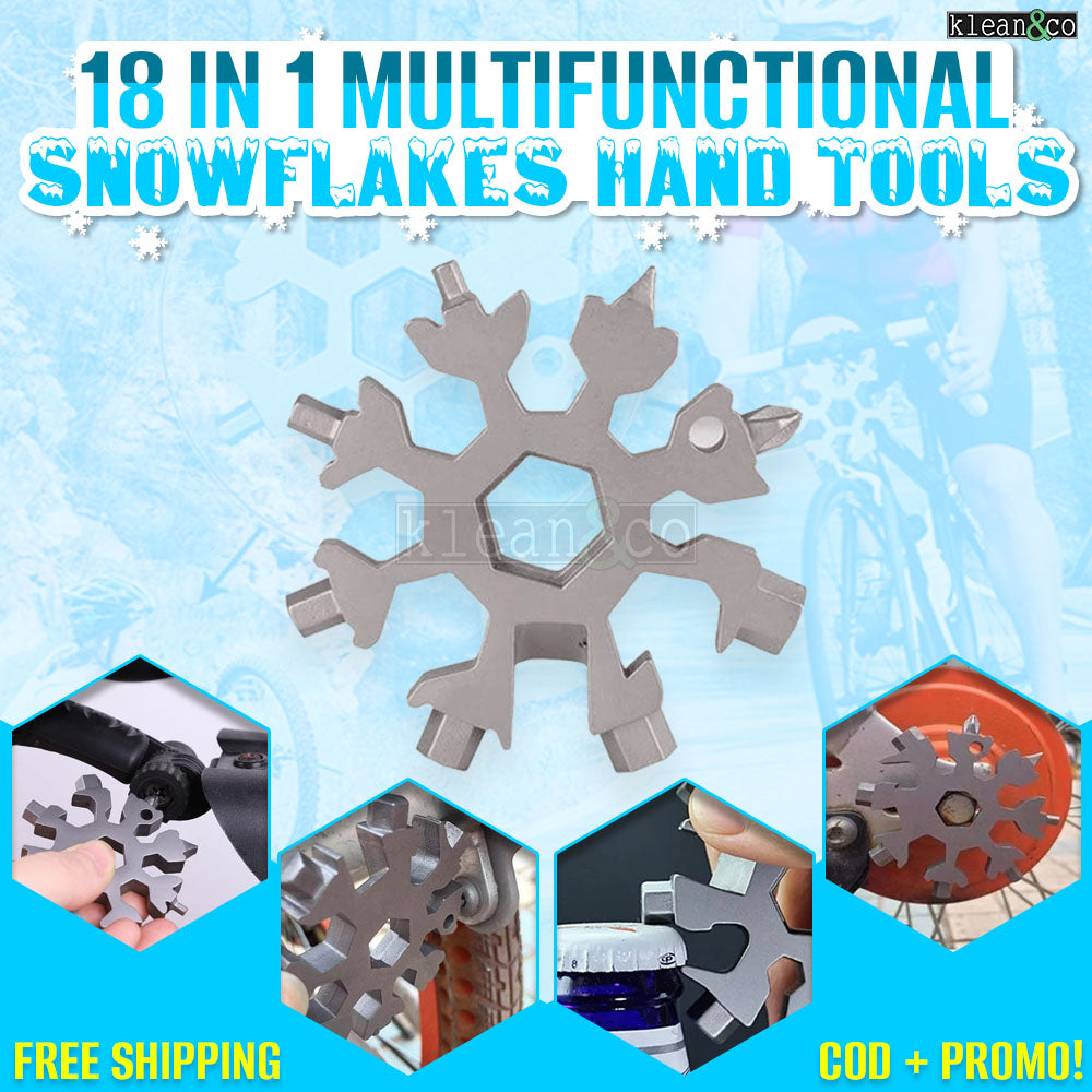 18 IN 1 MULTI-FUNCTIONAL SNOWFLAKE HAND TOOLS