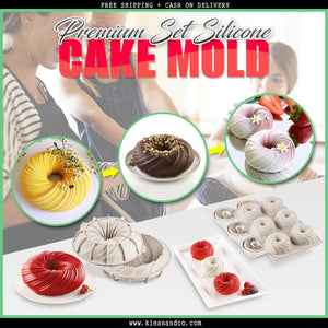 [LIMITED EDITION] Premium Set Silicone Cake Mold