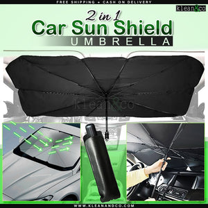 2 in 1 Car Sun Shield Umbrella