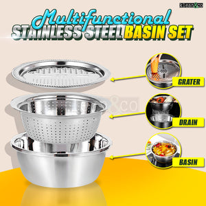 Multifunctional Stainless Steel Basin Set