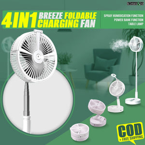 4 In 1 BREEZE FOLDABLE CHARGING FAN