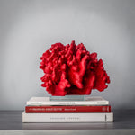 Faux - Red Ridge Coral with Glass Plinth