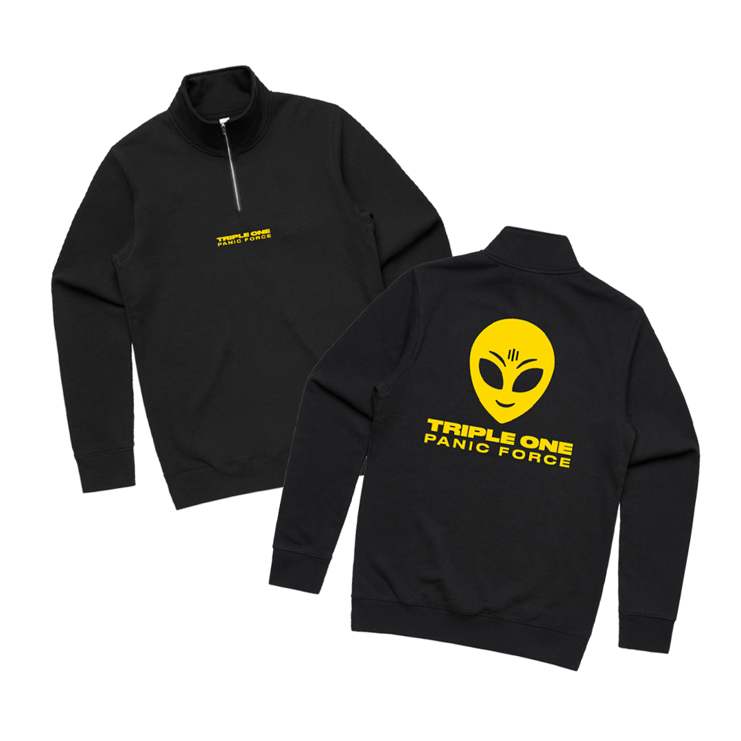 'PANIC FORCE' QUARTER ZIP + DIGITAL DOWNLOAD