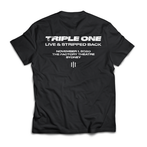 LIVE & STRIPPED BACK T-SHIRT (LIMITED)