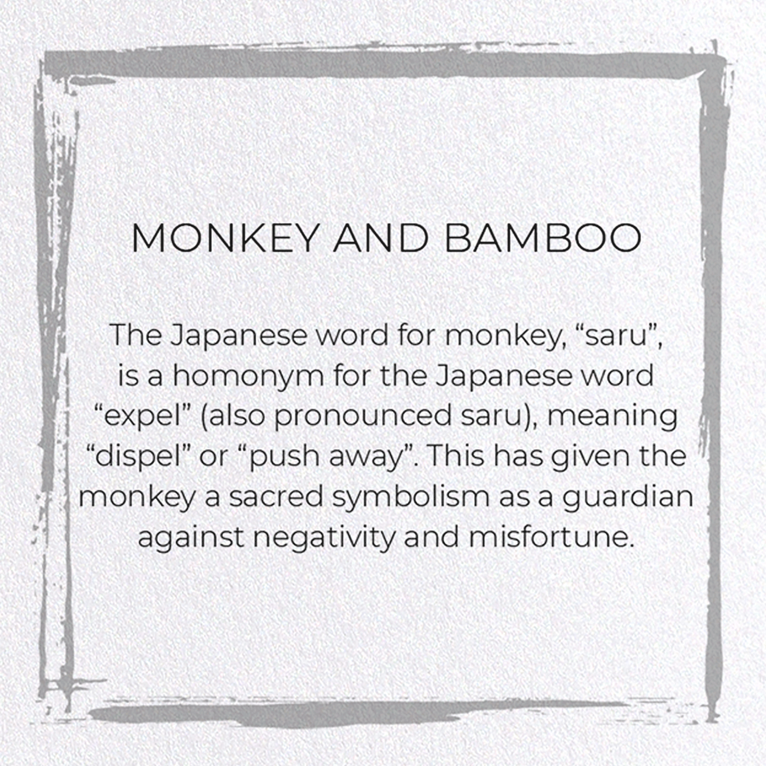 MONKEY AND BAMBOO: 8xCards