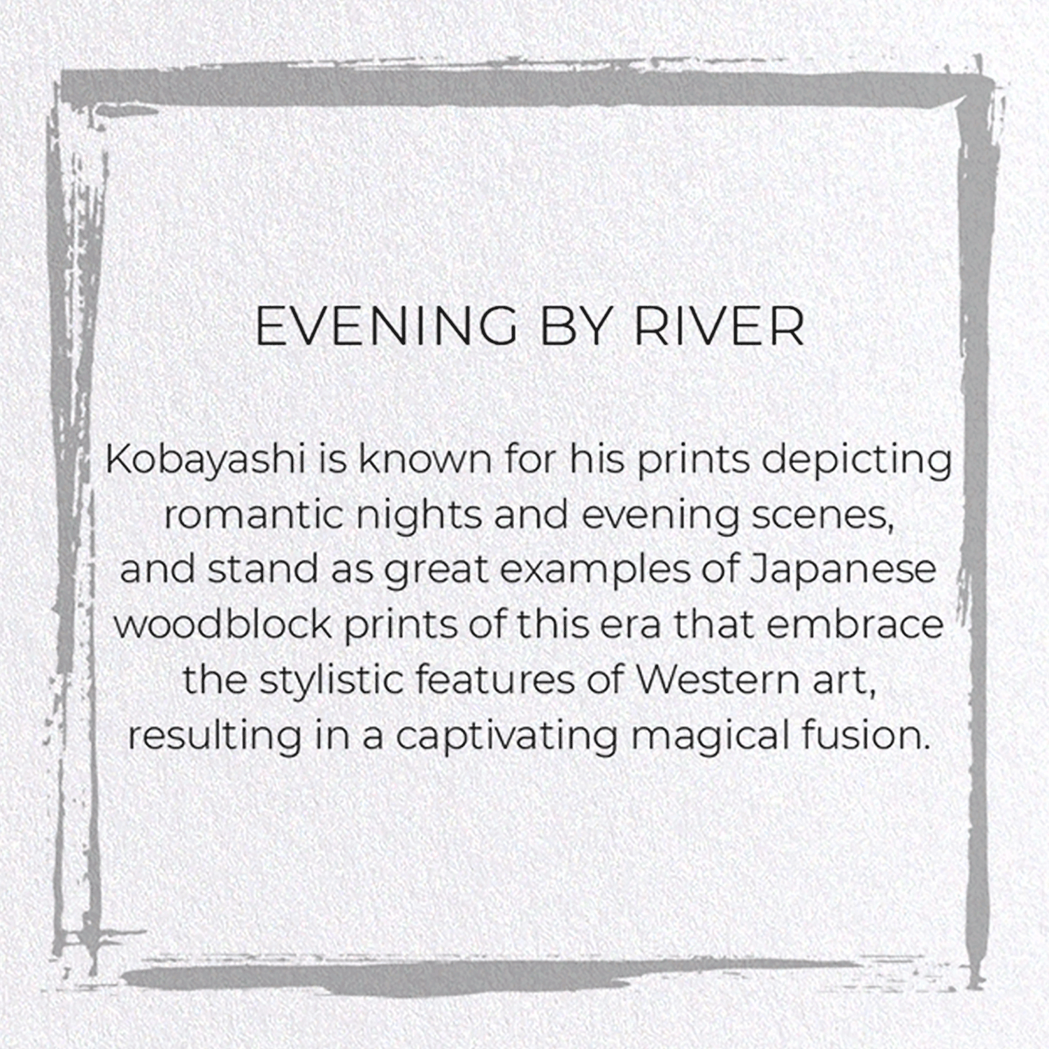 EVENING BY RIVER: 8xCards