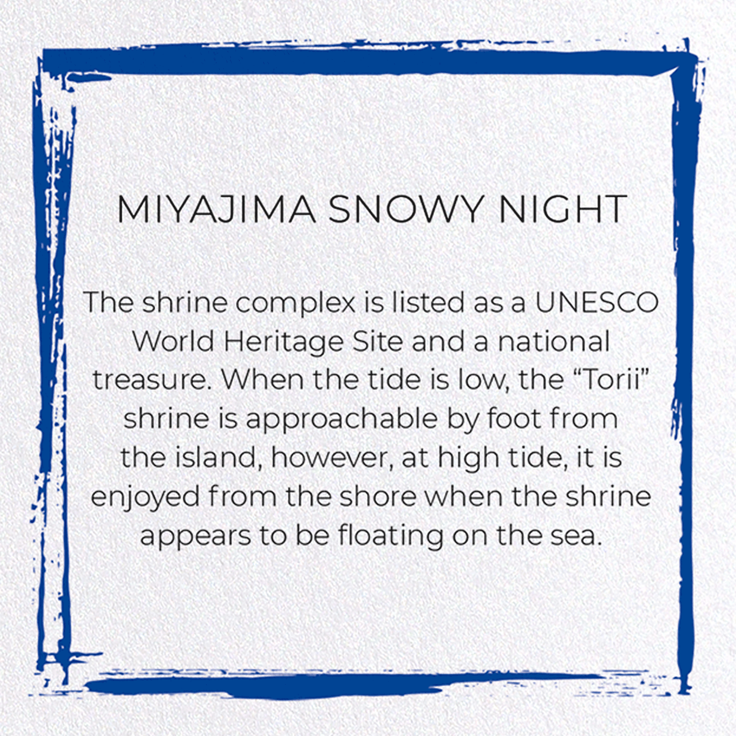 MIYAJIMA SNOWY NIGHT: 8xCards